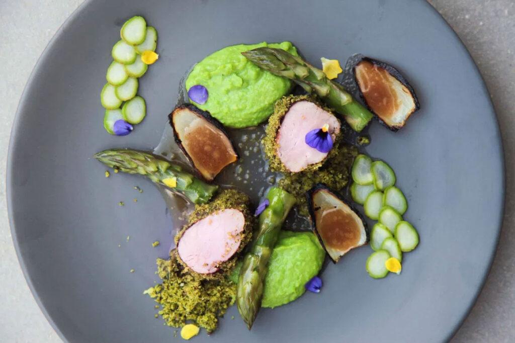 Restaurant dish in plate